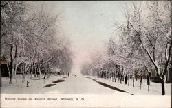 Winter Scene on Fourth Street