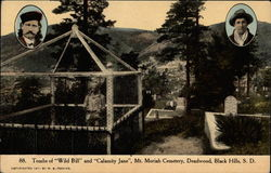 Tombs of Wild Bill and Calamity Jane, Mt. Moriah Cemetery, Deadwood