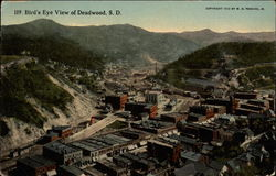 Bird's Eye View of Deadwood Postcard