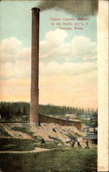 Tallest concrete chimney in the world, 317 1/2 ft