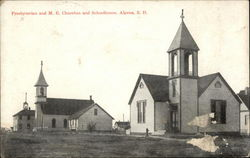 Presbyterian and M.E. Churches and Schoolhouse