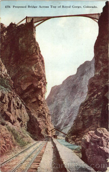 Proposed Bridge Across Top of Royal Gorge Colorado