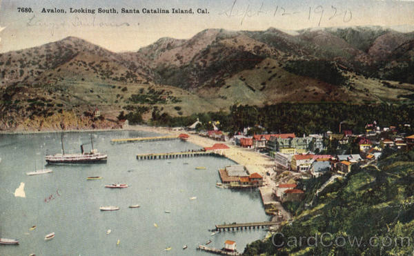 Avalon, Looking South Santa Catalina Island California