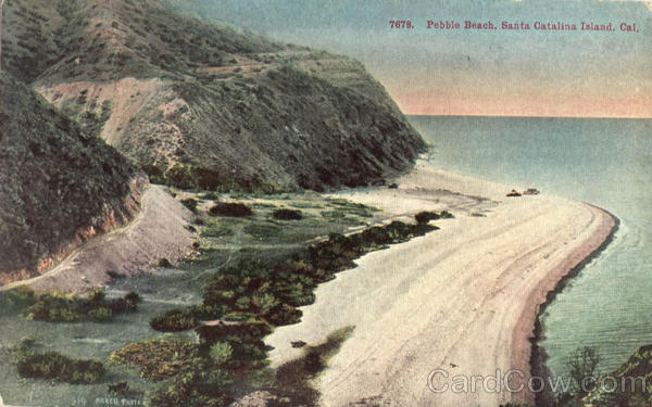 Pebble Beach Santa Catalina Island California
