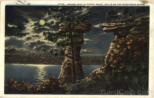 Moonlight at Stand Rock Wisconsin Dells