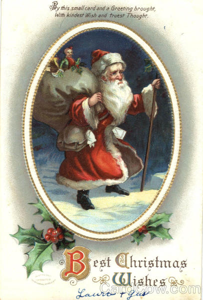Best Christmas Wishes Ellen Clapsaddle Santa Claus