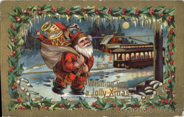 Wishing you a Jolly X mas Santa Claus