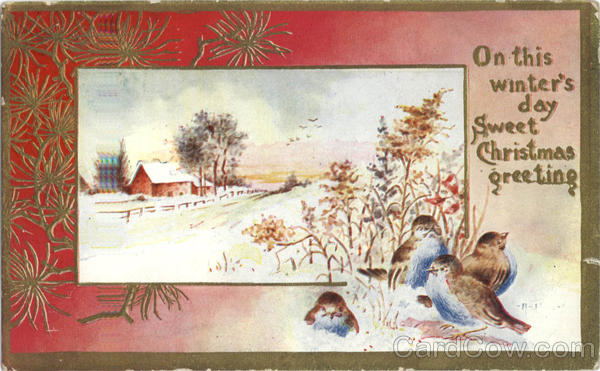 On this winter's day Sweet Christmas greeting