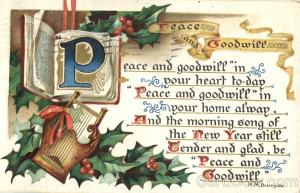 Peace and Goodwill Christmas