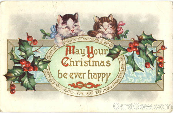 May Your Christmas be ever happy Cats