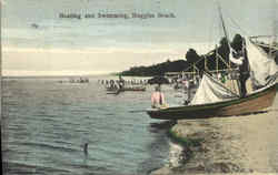 Boating and Swimming, Ruggles Beach Postcard