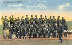 A Mexican Cavalry Band Postcard