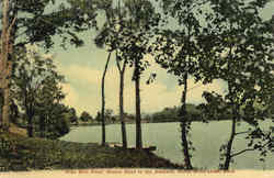 Nine Mile Pond, Boston Road in the Distance