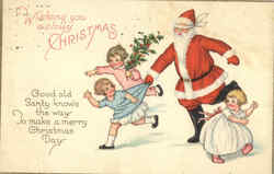 Wishing you a Jolly Christmas - Santa With Children