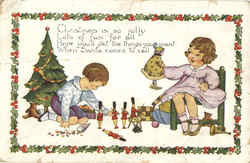 Children with Christmas Toys