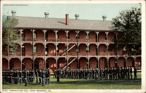 Inspection of the tropps Fort Monroe Virginia