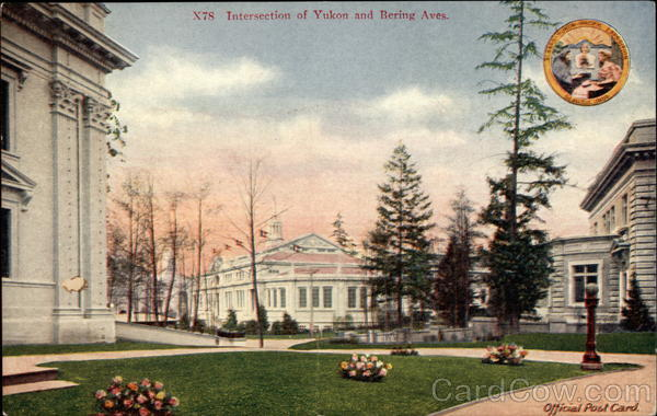 Intersection of Yukon and Bering Aves 1909 Alaska Yukon-Pacific Exposition