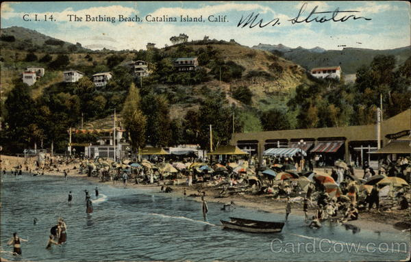 The bathing beach Santa Catalina Island California