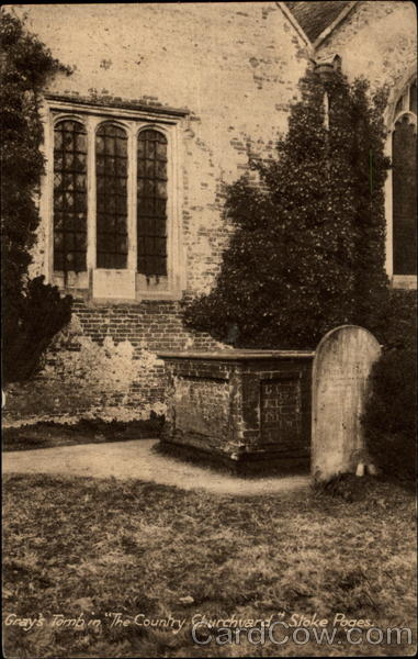 Gray's Tomb in  The Country Churchyard  Stoke Poges United Kingdom