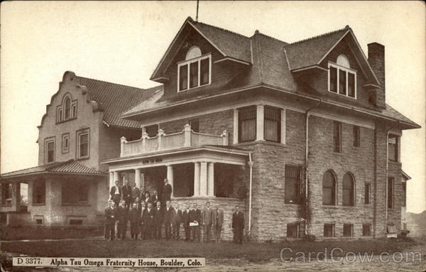 Alpha Tau Omega Fraternity House Boulder Colorado Fraternal