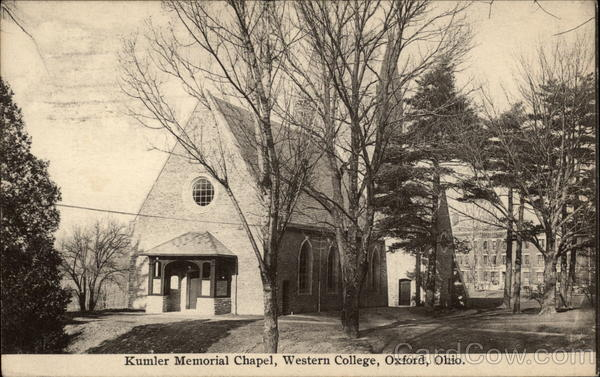 Kumler Memorial Chapel, Western College Oxford Ohio