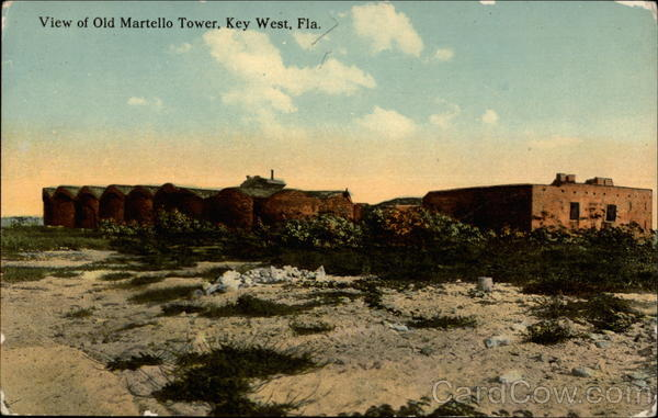 View of Old Martello Tower Key West Florida