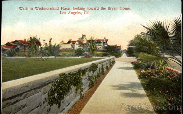 Walk in Westmoreland Place, looking toward the Bryan home Los Angeles California