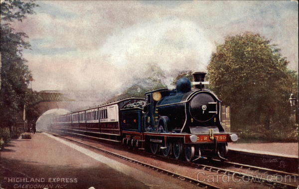 Highland Express, Caledonian Rly Trains, Railroad