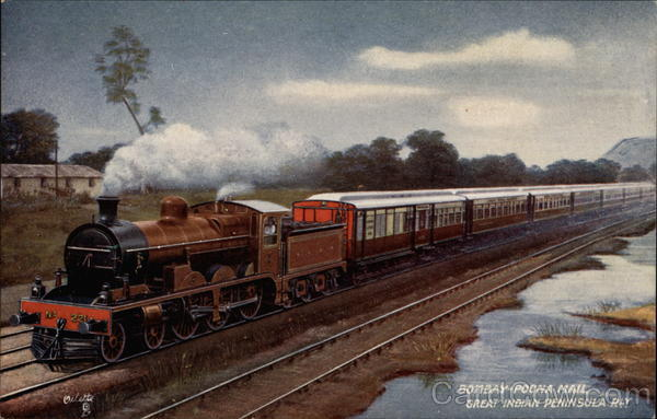 Bombay-Poona Mail, Great Indian Peninsula Bay Trains, Railroad