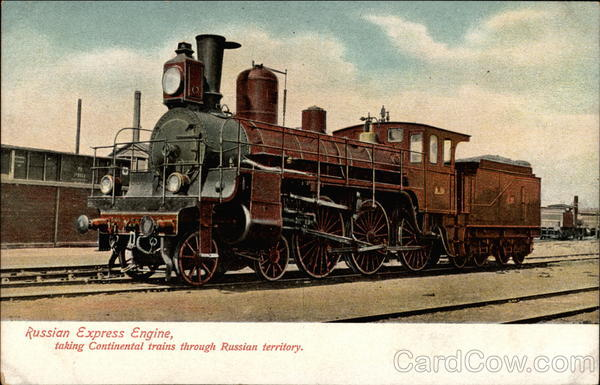 Russian Express Engine Trains, Railroad