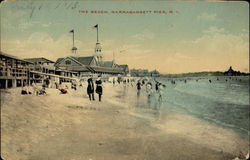 The beach at Narragansett Pier