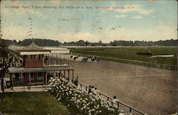 Saratoga Race Track Showing the Finish of a Race