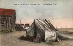 "One of the First in Tonopah, Nev. ""Jim Butler's Tent"""