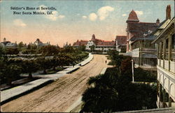 Soldier's Home at Sawtelle Postcard