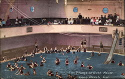 The Plunge in Bath House Postcard
