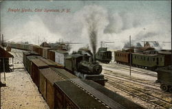 Freight yards Postcard