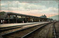 L.V. Railroad Station Postcard