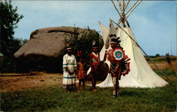 Indians at Pipestone National Monument Minnesota Native Americana