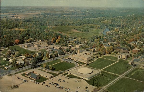 Aerial view of Goshen College Indiana Cuba