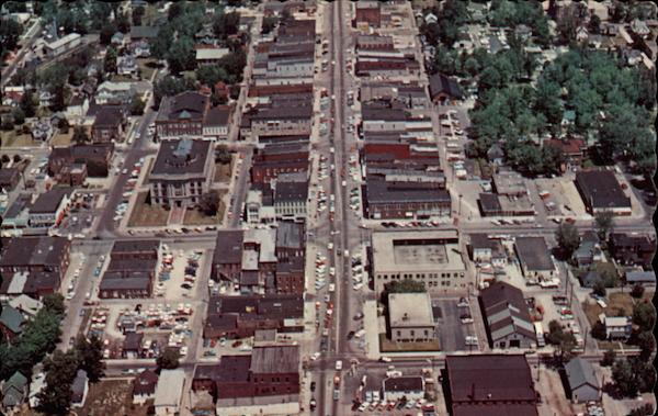 Aerial view Portland Indiana Graphic Printing Co