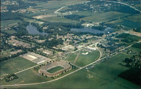 Air View of University of Notre Dame South Bend Indiana