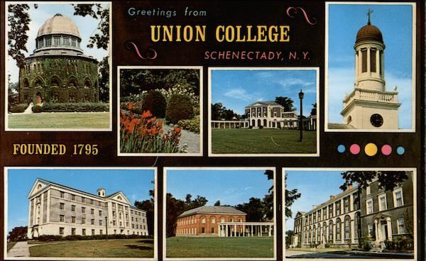 Greetings from Union College - Founded 1795 Schenectady New York