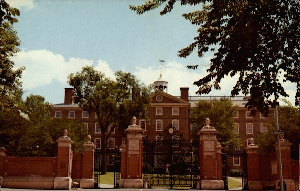 University Hall and Van Wickle Gates-Brown University Providence Rhode Island