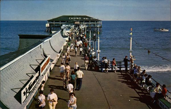 Crowds enjoying Old Orchard's famous pier Old Orchard Beach Maine