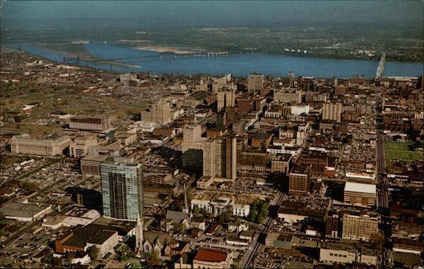 Aerial View Of Louisville Kentucky