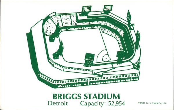 Briggs Stadium Detroit Michigan Baseball