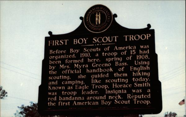 First Boy Scout Troop Historical Marker Burnside Kentucky