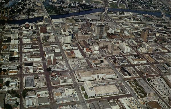 Airview of the Downtown Business District Tampa Florida