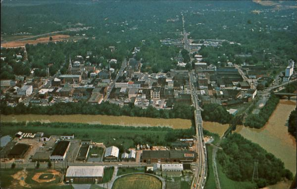 Aerial view of Downtown Rome Georgia