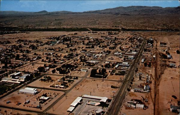 Parker, Arizona, from the air